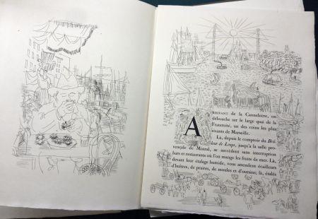 Illustriertes Buch Dufy - Eugène Montfort: LA BELLE ENFANT OU L'AMOUR A QUARANTE ANS. 94 eaux-fortes originales de Raoul Dufy (1930).