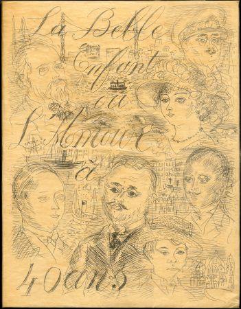 Illustriertes Buch Dufy - Eugène Montfort: LA BELLE ENFANT OU L'AMOUR A QUARANTE ANS. 94 eaux-fortes originales de Raoul Dufy (1930). Exemplaire sur Japon nacré.