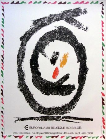 Lithographie Alechinsky - '' Europalia 80 ''