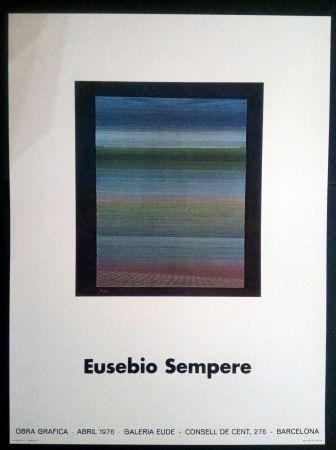 Plakat Sempere - EUSEBIO SEMPERE GALERIA EUDE 1976