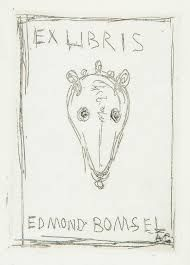 Radierung Giacometti - Ex Libris Du Bibliophile Edmond Bomsel.