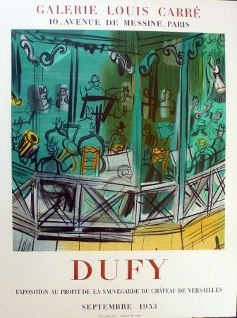 Lithographie Dufy - Exposition au profit de l sauvegarde du chateau de Versailles, gie Louis Carré 1953