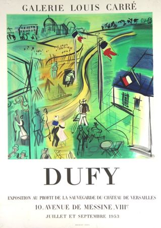 Lithographie Dufy - Exposition au Profit de La Sauvegarde du Chateau de Versailles