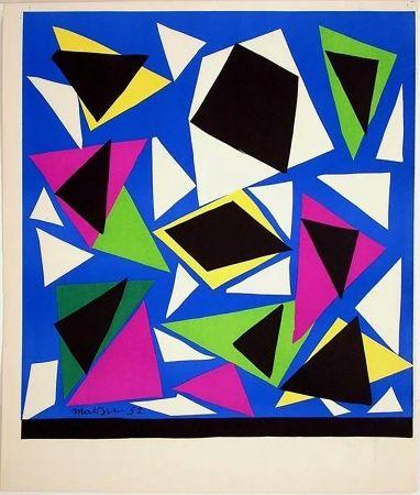 Lithographie Matisse - Exposition Galerie Kléber 1952. Épreuve de luxe avant la lettre sur vélin d'Arches