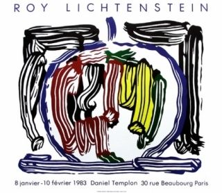 Plakat Lichtenstein - Exposition galerie Templon