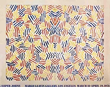 Lithographie Johns - Exposition Margo Learin Gallery, Los Angeles , 1978