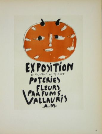 Lithographie Picasso (After) - Exposition Poteries Fleurs Parfums 1948