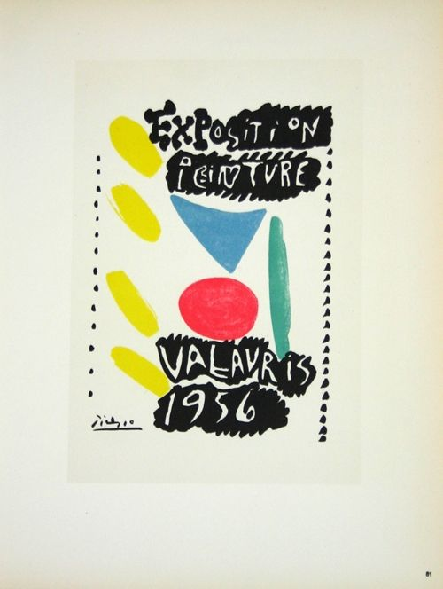 Lithographie Picasso (After) - Exposition Vallauris 1956