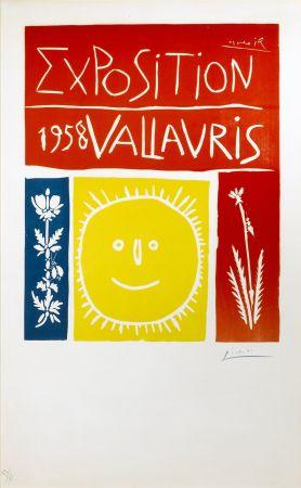 Linolschnitt Picasso - Exposition Vallauris 1958