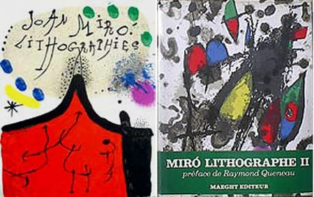 Illustriertes Buch Miró - F. Mourlot. - P. Cramer: MIRO LITHOGRAPHE I - IV. 1930 - 1972 (catalogue raisonné des lithographies 1930-1972)