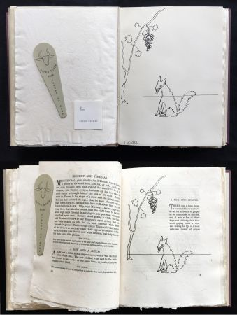 Illustriertes Buch Calder - FABLES OF ÆSOP (1931), 1 des 50 avec dessin original.