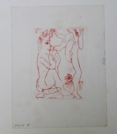 Stich Picasso -  Faune Et Bacchante , Avec Combat De Faunes