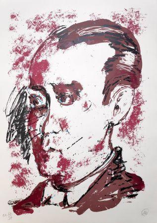 Siebdruck Lüpertz - Federico Garcia Lorca