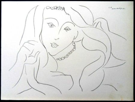 Lithographie Matisse - Femme