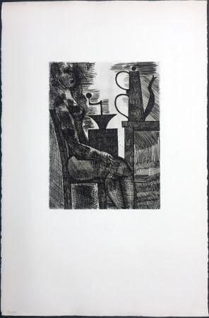 Stich Gromaire - Femme à la cafetière (Chacographie du Louvre)