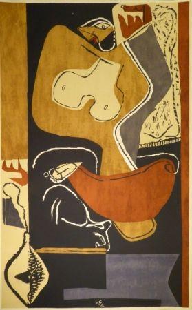 Lithographie Le Corbusier - Femme à la main levée