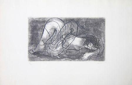 Radierung Und Aquatinta Fautrier - Femme étendue IV