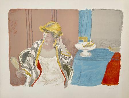 Lithographie Brianchon - Femme a sa Toilette
