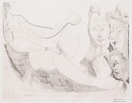 Stich Picasso - Femme au Lit avec Visiteurs
