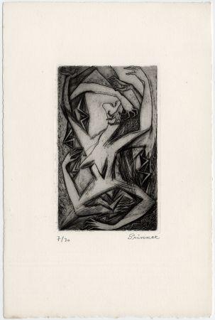 Radierung Prinner - Femme, bras et mains (La Femme tondue, 1946)