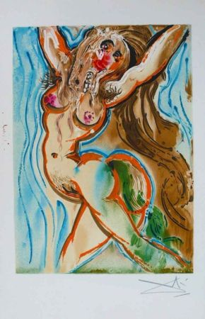 Lithographie Dali - Femme Cheval