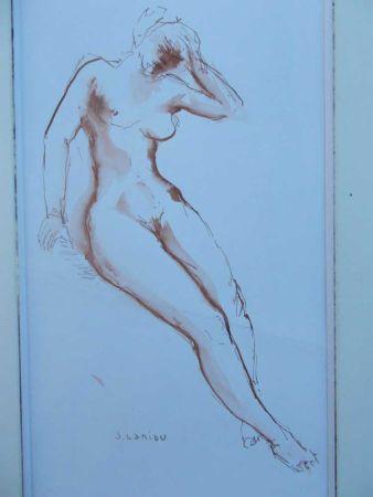 Aquatinta Laniau - Femme nue