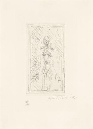 Stich Giacometti - Femme nue de face à mi-corps