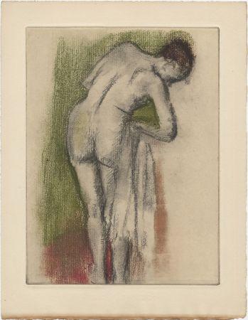 Radierung Und Aquatinta Degas - Femme nue debout à sa toilette (vers 1880-1890)