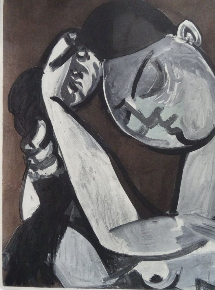 Lithographie Picasso (After) - Femme se coiffant