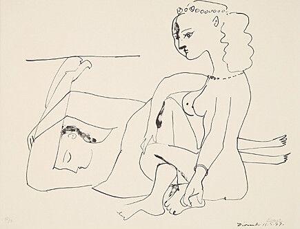 Lithographie Picasso - Femmes Sur La Plage