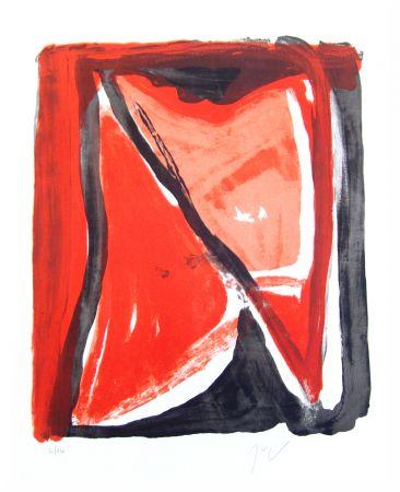Lithographie Van Velde - Fenêtre