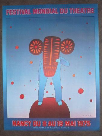 Plakat Folon - Festival mondial du théatre