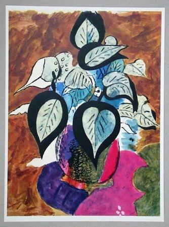 Lithographie Braque (After) - Feuillage en couleurs