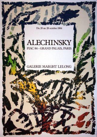 Lithographie Alechinsky - '' FIAC 84 ''