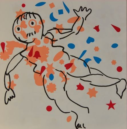 Lithographie Baj - Figure
