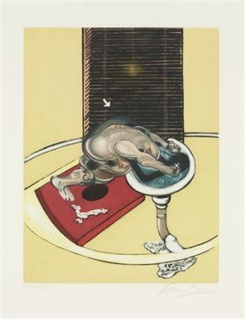 Radierung Und Aquatinta Bacon - Figure at a washbasin (from Requiem pour la fin des temps)