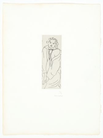 Stich Matisse - Figure au peignoir