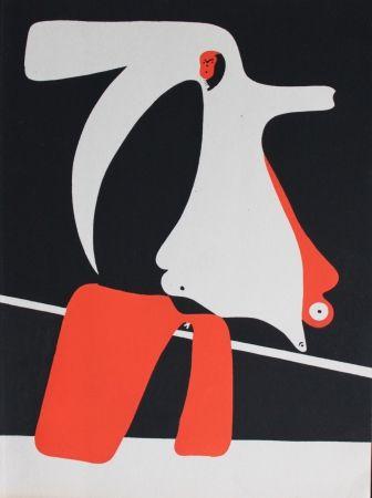 Pochoir Miró - Figures