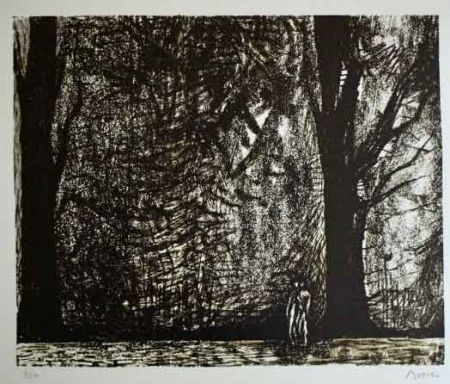 Lithographie Moore - FIGURES IN A FOREST
