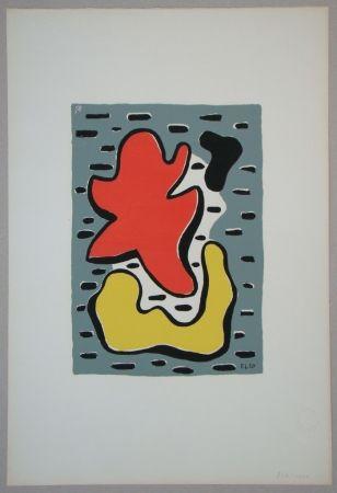 Siebdruck Leger - Figures rouge et jaune, 1950