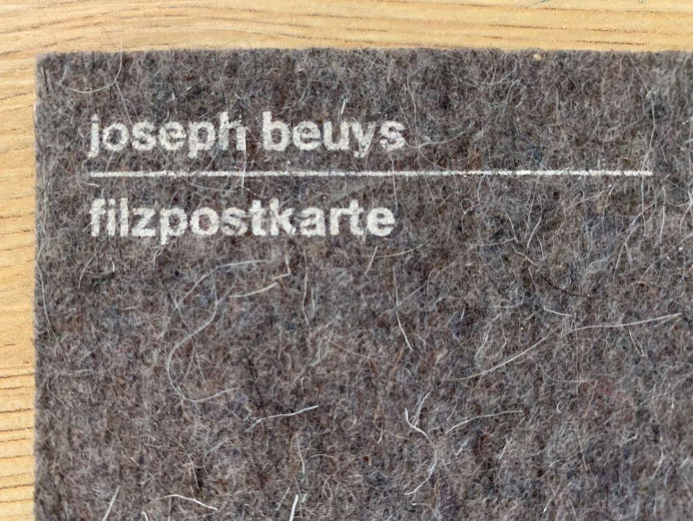 Siebdruck Beuys - Filzpostkarte