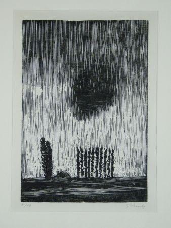 Holzschnitt Marcks - Finstere Wolke (Dark Cloud)
