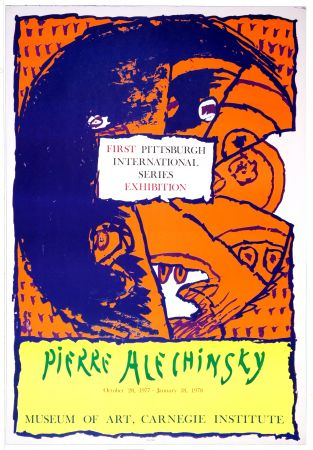 Plakat Alechinsky - First Pittsburg International Series Exhibition, 1977
