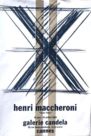 Lithographie Maccheroni - First Time  Galerie Candela Cannes