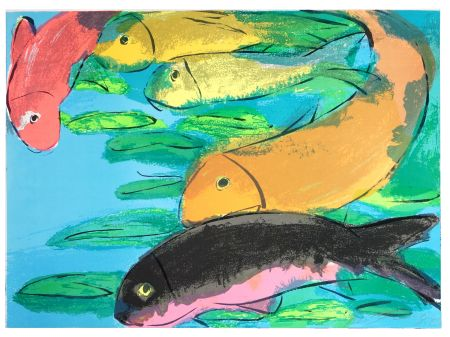 Lithographie Ting - Fish