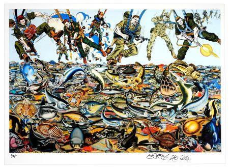 Digitale Druckgrafik Erro - Fishlandscape