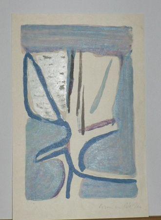 Lithographie Van Velde - Fleur Légère