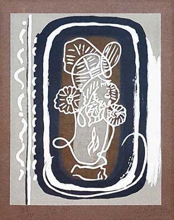 Holzschnitt Braque - Fleurs blanches