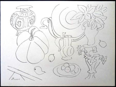 Lithographie Matisse - Fleurs et Vases