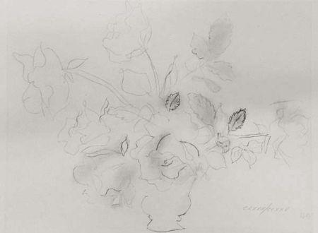 Lithographie Dufy - «Fleurs II»